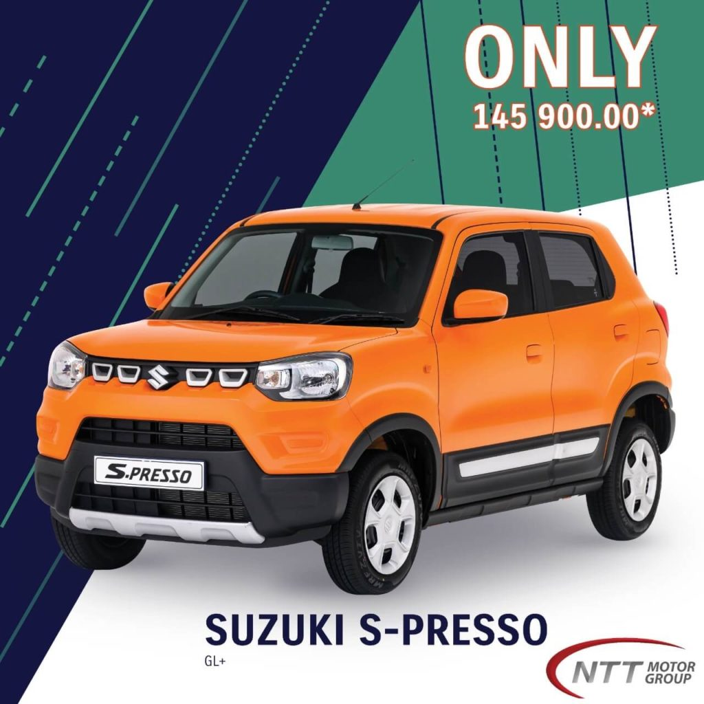 Suzuki S-Presso GL+ - NTT Motor Group - Cars for Sale in South Africa