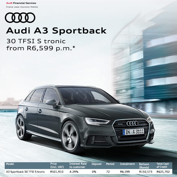 Audi A3  - NTT Audi - New, Used & Demo Cars for Sale in South Africa