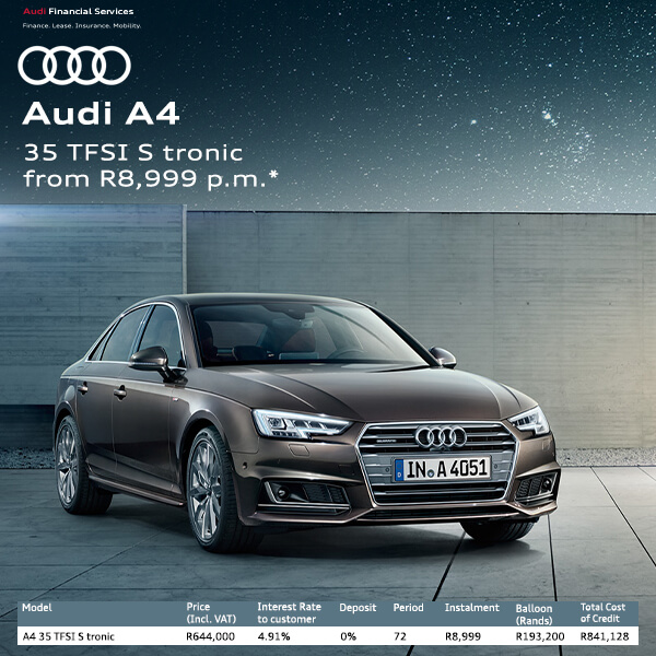 Audi A4 - NTT Audi - New, Used & Demo Cars for Sale in South Africa