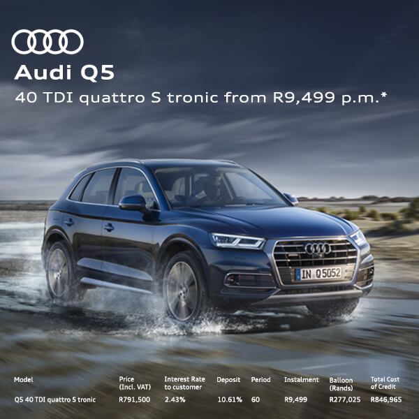 Audi Q5 - NTT Audi - New, Used & Demo Cars for Sale in South Africa