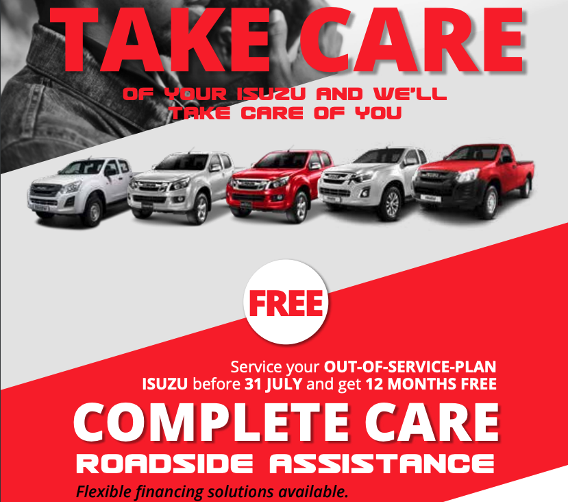 Service Your Isuzu Special - NTT Motor Group - Cars for Sale in South Africa