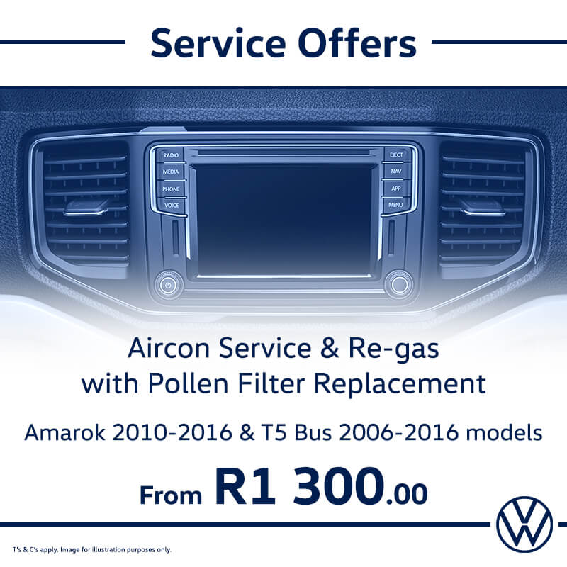 Service Offer: Amarok & T5 Models - NTT Volkswagen - New, Used & Demo Cars for Sale in South Africa