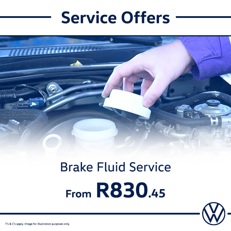 Service Offer: Brake Fluid - NTT Volkswagen - New, Used & Demo Cars for Sale in South Africa
