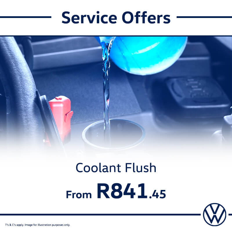 Service Offer: Coolant Flush - NTT Volkswagen - New, Used & Demo Cars for Sale in South Africa