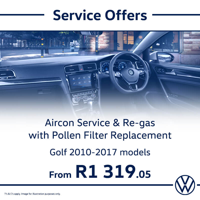 Service Offer: Golf - NTT Volkswagen - New, Used & Demo Cars for Sale in South Africa